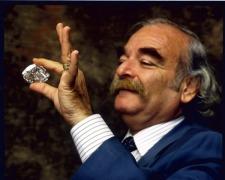 Gabi Tolkowsky with the Centenary Diamond