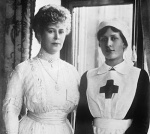 Queen Mary and her daughter, Princess Mary (Mary is also wearing Cullinan's VI and VIII)