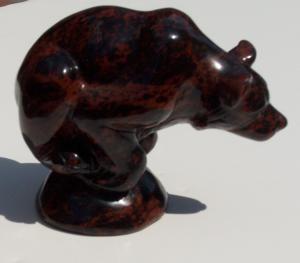 Mahogany Obsidian Sculpture