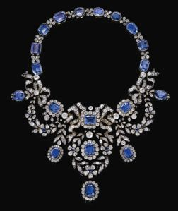 Late 19th Century Sapphire and Diamond Necklace