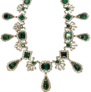 Marie Louise Emerald and Diamond Necklace