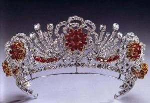 Burmese Ruby Tiara. Made by Garrard & Co. in 1973