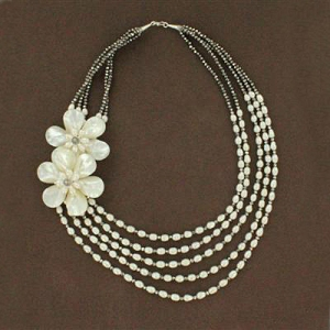 4125278_a-Sterling-Silver-Mother-of-Pearl-Two-Flower-Crystal-Long-Five-Strand-Necklace-02