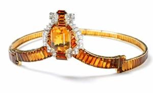 Cartier Citrine & Diamond Tiara 1937