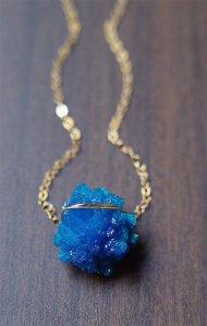 cavansite necklace