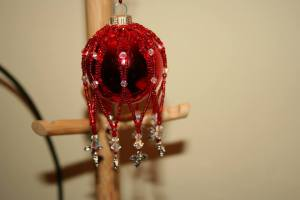Red Holly Bauble £25