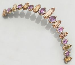 An early 19th century amethyst and topaz tiara, circa 1830